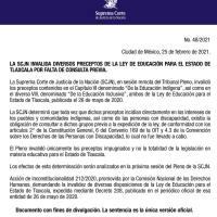 Inconstitucional la Ley de Educación para el Estado de Tlaxcala; en algunos preceptos: SCJN